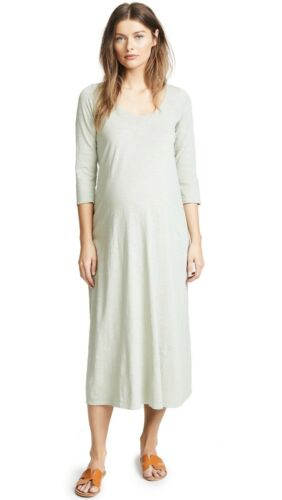Hatch Maternity Women's THE COTTON MAXI DRESS Sage Size 1 $188!NEW S//4-6