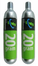 2 pack Genuine Innovations Co2 20g Threaded Refill Cartridges Pair Bike Inflator