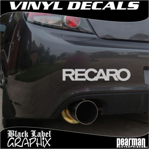 2 Set of RECARO seat JDM race rally Car Auto Window Bumper Vinyl Decal Sticker