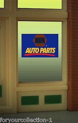 Miller's Napa Auto Parts Animated Neon Window Sign #8895 O/o27 Ho Scale Model Railroads & Trains Parts & Accessories