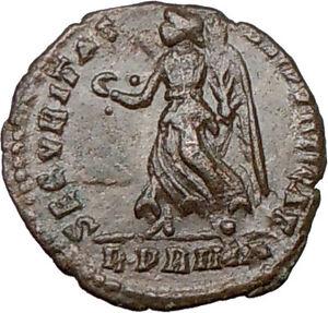 VALENS-367AD-RARE-Rome-mint-R-PRIMA-Ancient-Roman-Coin-VICTORY-Cult-i16366