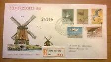 FDC E47 Zomerzegels 1961 getypt adres en open klep R-strook Berg en Dal