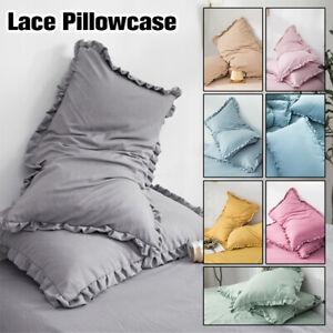 2Pcs-Chiffons-Cotton-Pillowcase-Flounced-Bedroom-Pillow-Cover-Bedling-48x74cm