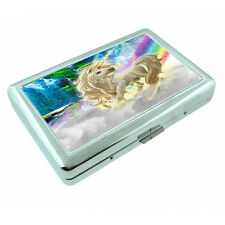 Unicorns D9 Silver Metal Cigarette Case RFID Protection Wallet Mythical Creature