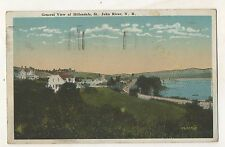 View of HILLENDALE St Saint John River NB New Brunswick Vintage Postcard
