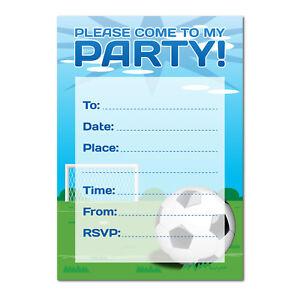 Detalles De Invitación De Fiesta Tema De Fútbol 16 Tarjetas De A6 Ideal Para Niños Chicos Cumpleaños Ver Título Original
