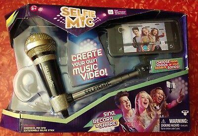 Onafhankelijk New Selfie Music Mic Karaoke Set Include Microphone Selfie Stick Adaptor Cable