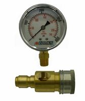 4,000 Psi 2.5 Pressure Gauge Test Kit With Qc's
