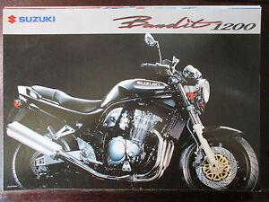 Bien Brochure Catalogue 4 Pages 1996 Moto Suzuki Gsf1200 Bandit