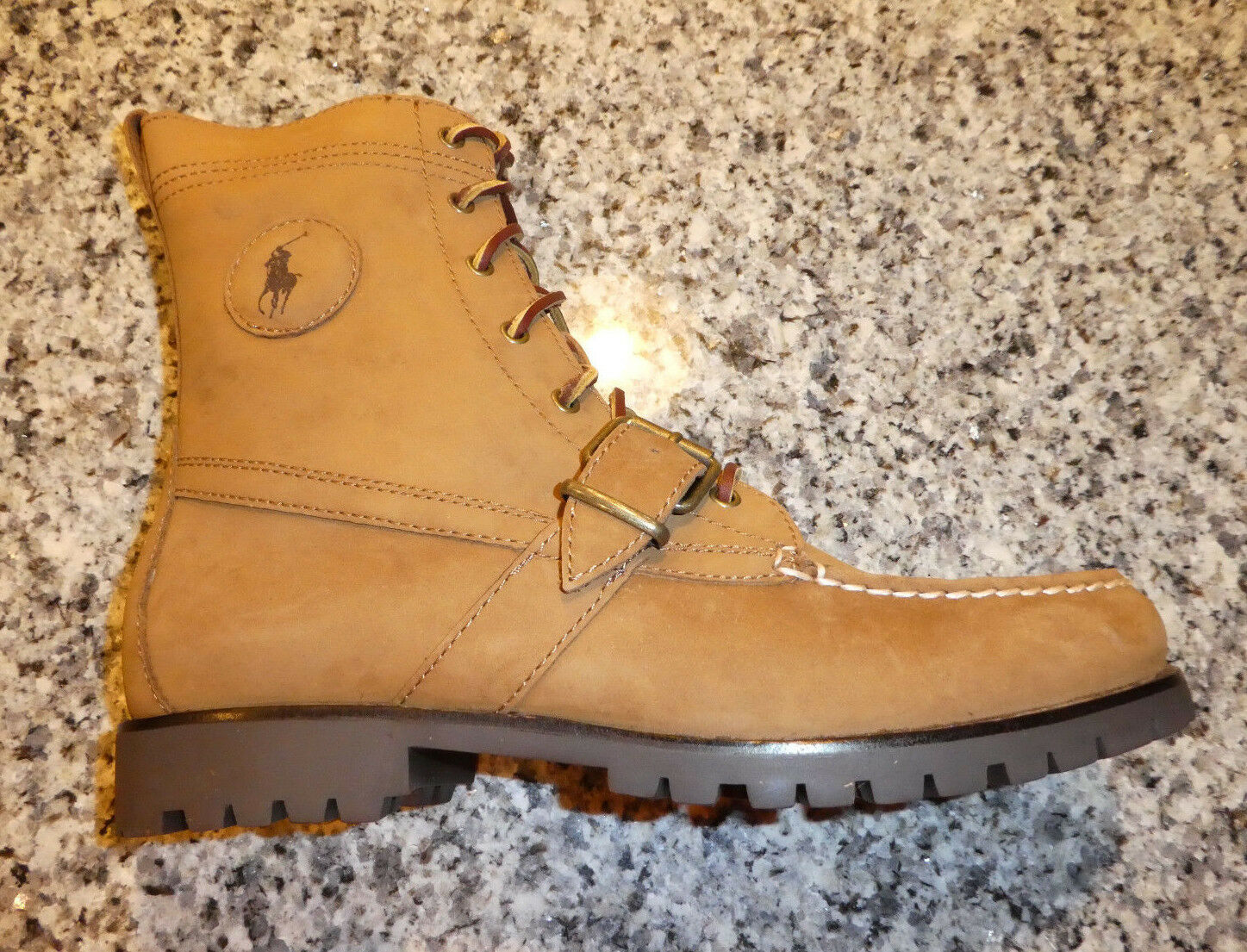 Mens Polo Ralph Lauren Ranger boots new tan