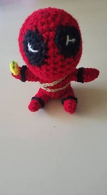 Chibi superheroes. I used the free pattern for Deadpool and made ... | 400x220