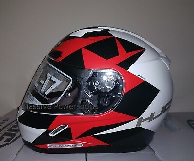 HJC CL-17 Arica Motorcycle Helmet Red Gray L LG Large Snell M2015