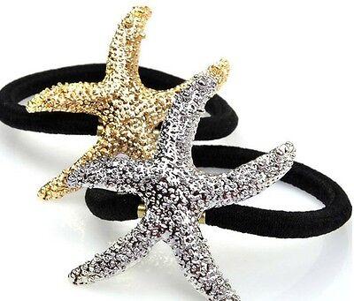 Womens  Starfish Rhinestone Head Chain Jewelry Headband Head Piece Hair Band New