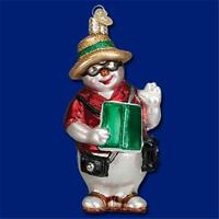 South Pole Snowman Old World Christmas Glass Vacation Theme Ornament 24148