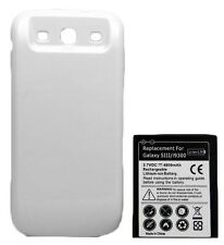 New 4800mah Extended Battery + WHITE door cover for Samsung Galaxy s3 i9300 T999