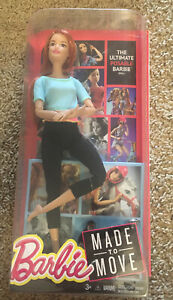 REDHEAD FRECKLES BARBIE MADE TO MOVE DOLL MATEL ARTICULATED YOGA DOLL NEW