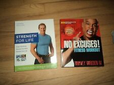 2 Fitness Books Strength For Life Plan Shawn Phillips No Excuses! Harvey Walden