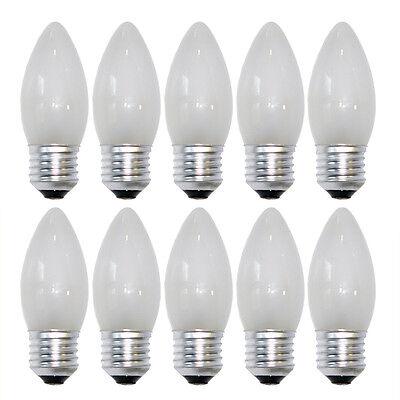 10 x Glühbirne Kerze 60W E27 MATT Glühbirnen Glühlampen Glühlampe 60 Watt Kerzen
