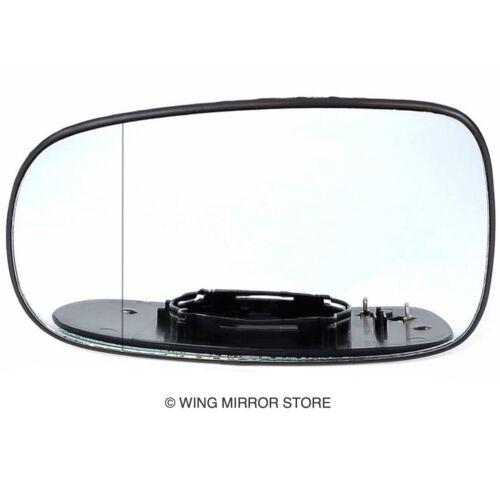 Linke Seite für Saab 9-5 03-08 Weitwinkel Beheizt Außenspiegel Glas Clip