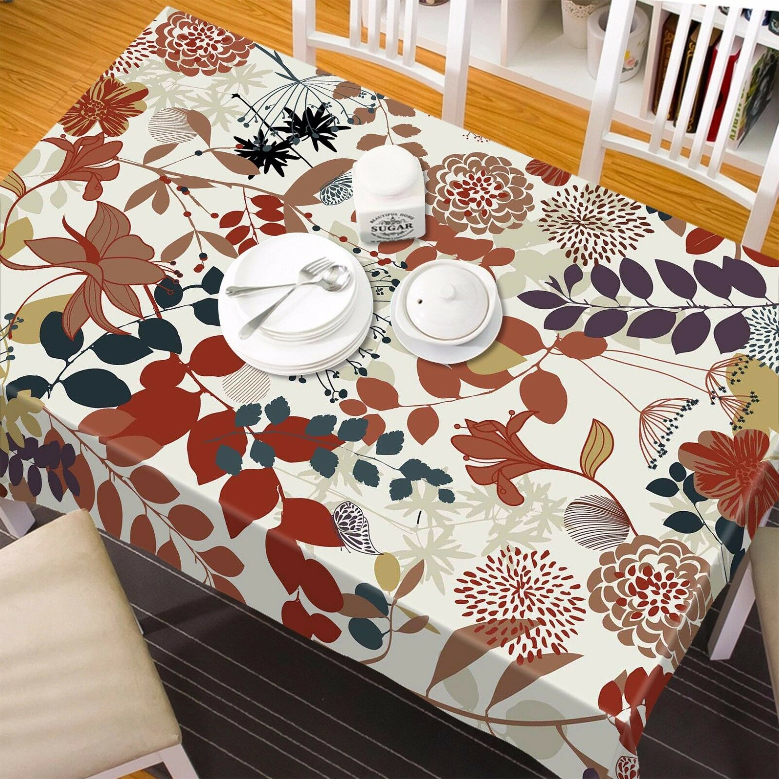 3D rouge leaf 82 Tablecloth Table Cover Cloth Birthday Party Event AJ WALLPAPER AU