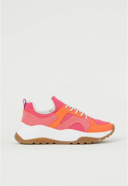 Sneakers, str. 40, H&M,  Neonrosa & Orange,  Mesh og…