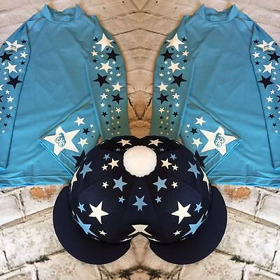 Other Rider Clothing SXC Starburst Cross Country Colour XC Stars Eventing Equestrian Hat Silk Cover Sporting Goods