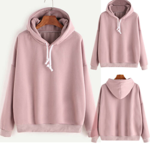 Women Casual Hoodies Hooded Sweatshirt Sweater Pullover Tops Jumper Blouse New