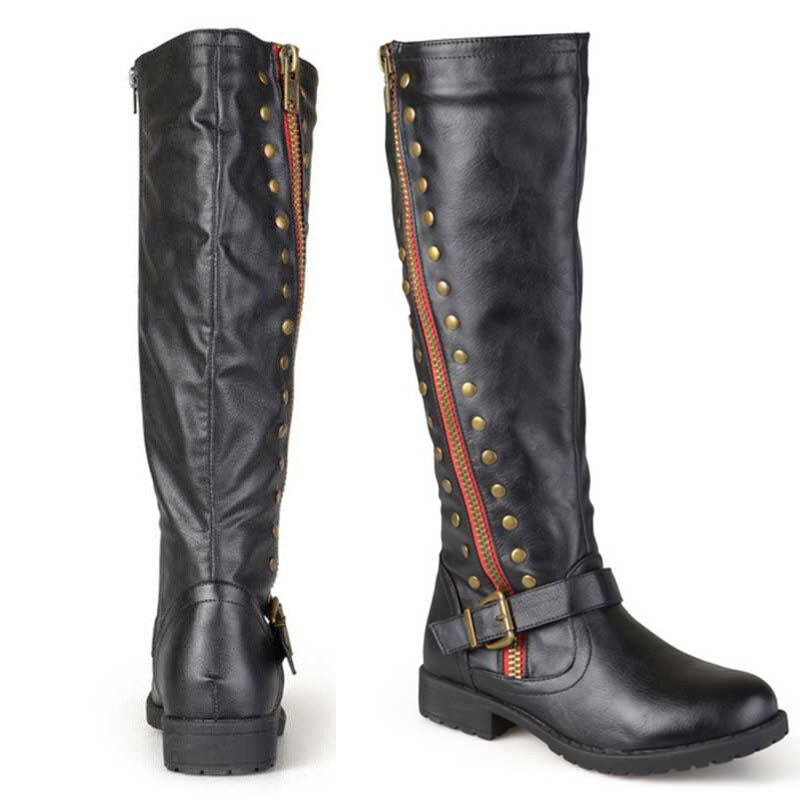 ClassicWomen's Knee High Leather Boots Motorcycle Knight Equestrian Long Boot