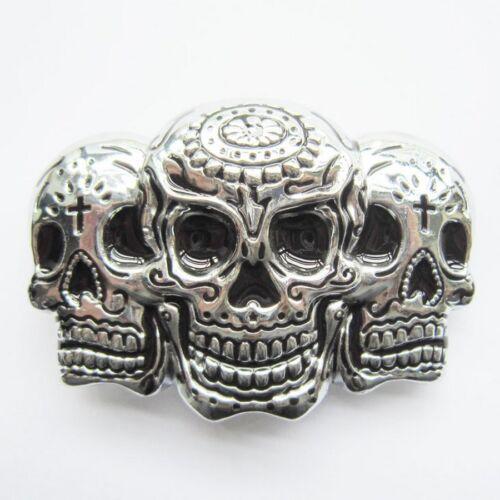 Boucle Ceinture Biker Trio tête de Mort Mexicaine belt Buckle motorcycles