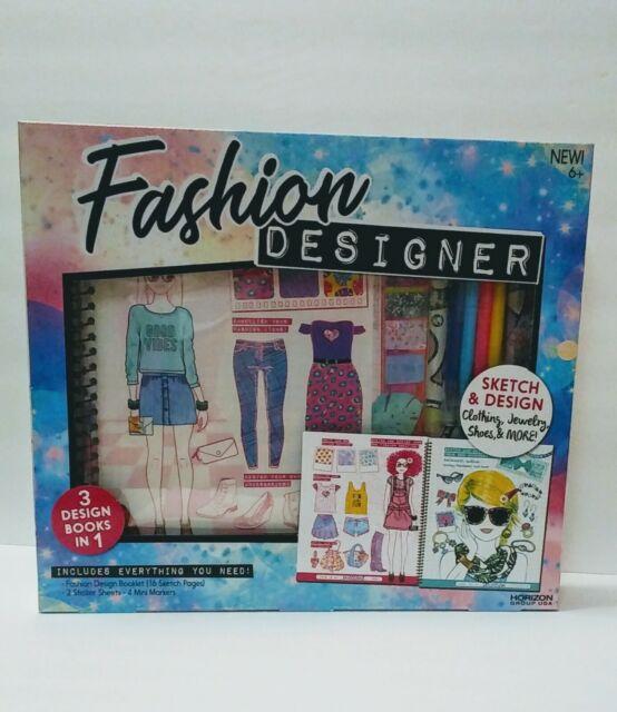 Fashion Designer Sketch Design Booklet Stickers Markers For Kids 634400a For Sale Online Ebay