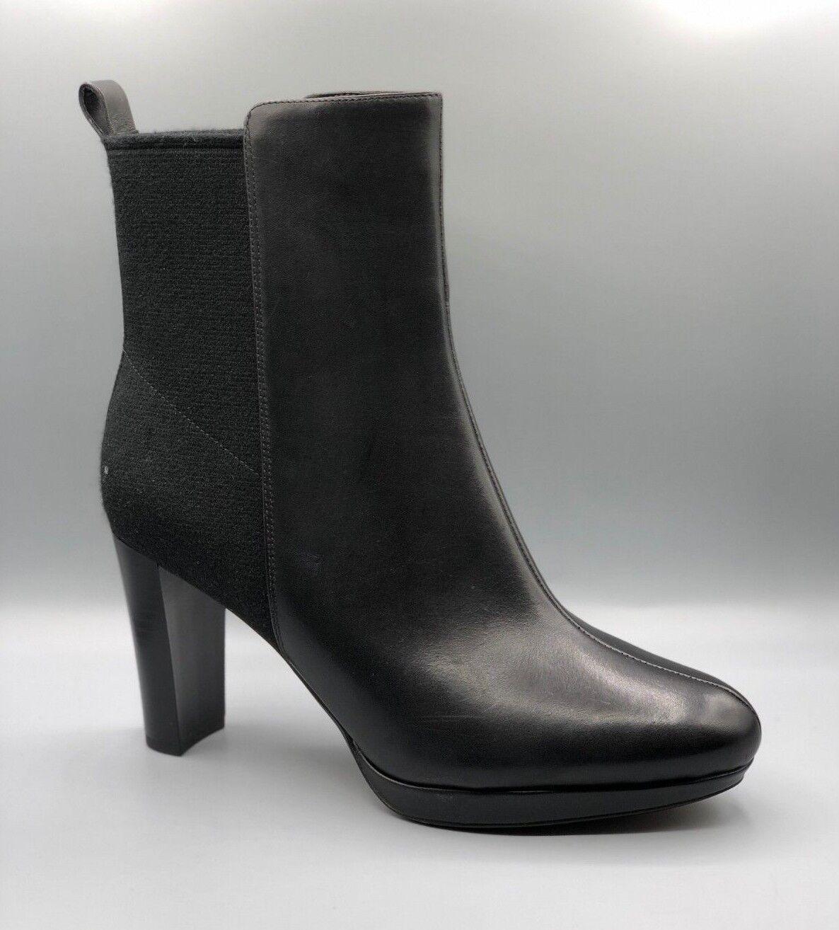 New Clarks  Kendra Porter  Femmes en Cuir Noir Bottines Chelsea UK 7 D