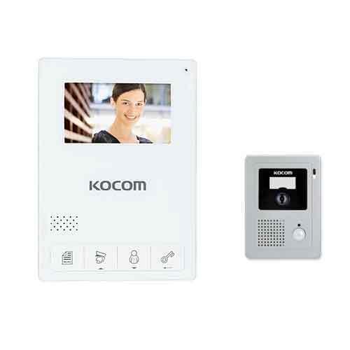 """Kocom KCV-434B 4.3/"""" Color Videophone KC-C60 Door Camera 220V//60Hz Black"""