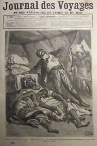 Zeitung-der-Voyages-Nr-336-von-1883-Explorer-Soleillet-Rechts-Obock-und-Ankober