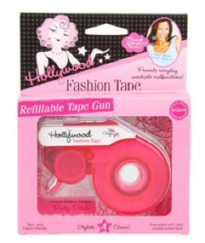 Hollywood REFILLABLE TAPE GUN Preloaded with clear double-sided tape