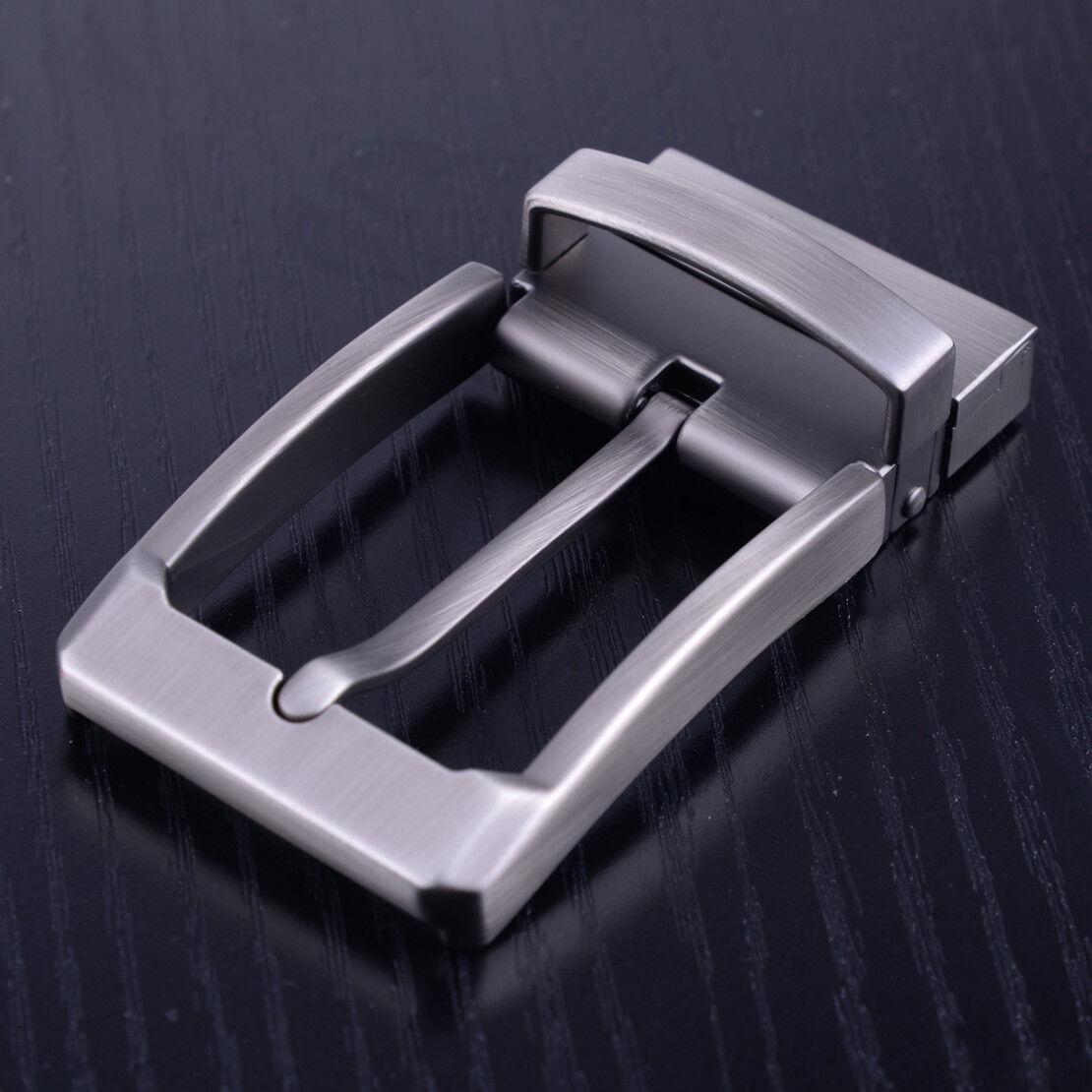 Rechteckige Gürtelschnalle aus Metall Reversible Dornschließe aus ohne Gürtel