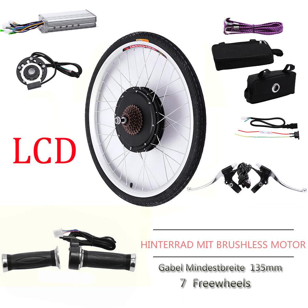 36V48V 26 LCD Ebike Kit di conversione bicicletta elettrica ruota posteriore
