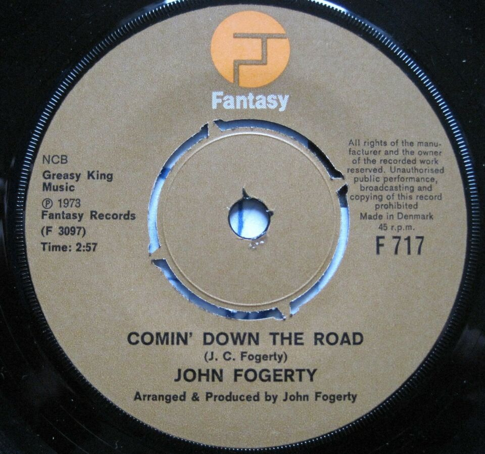 Single, John Fogerty, Comin` down the road