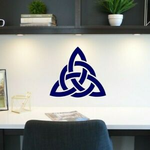 Celtic Knot Trinity Wall Art Matt Vinyl Sticker Cupboard Mirror Laptop Decal Ebay