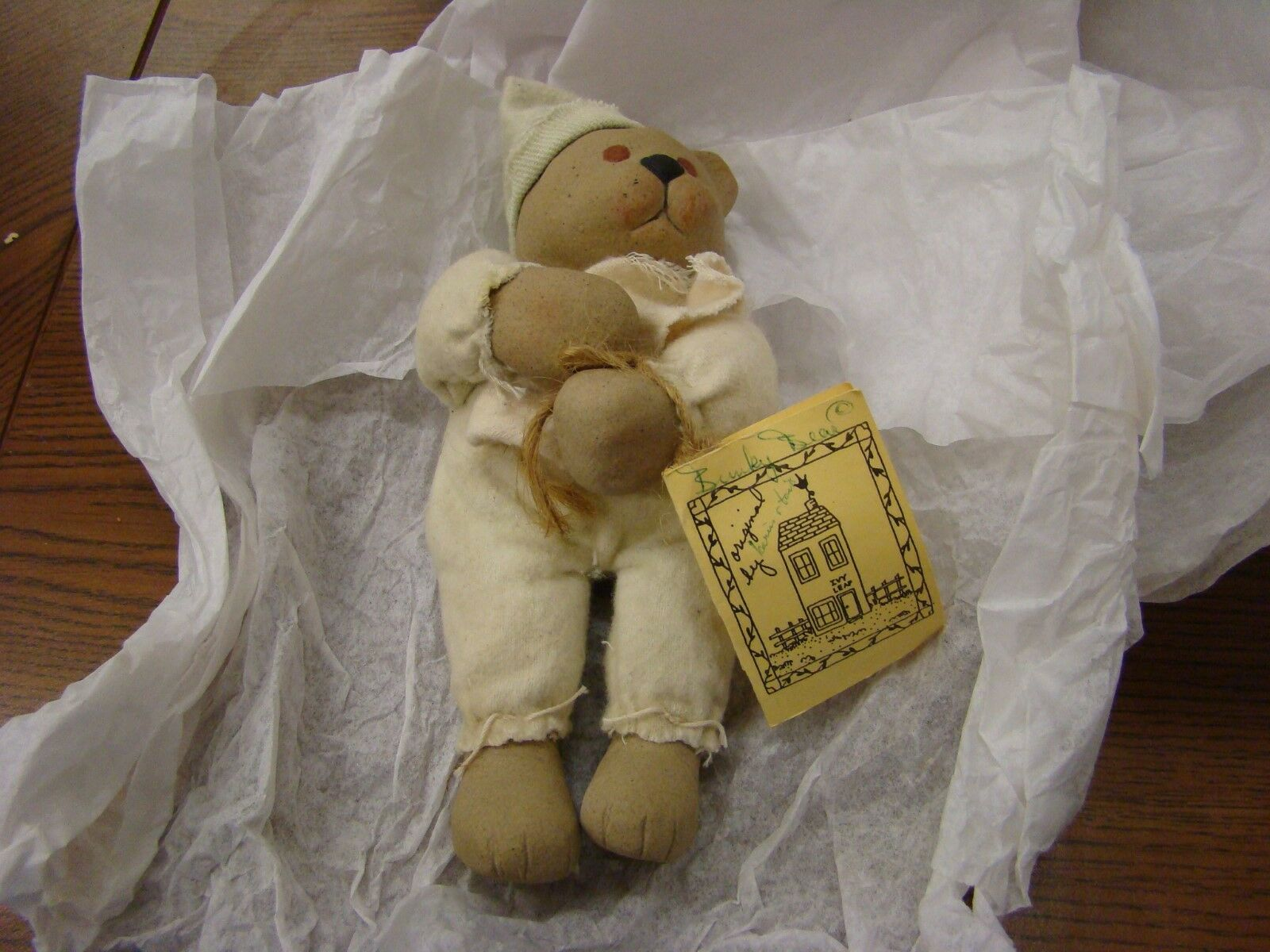 IVY Leaf  High-Firot & Hand Painted Teddy Bear Signed Made in USA