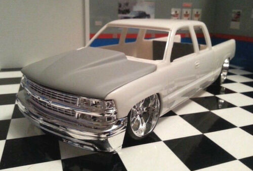 LEX-039-S-SCALE-MODELING-Resin-Cowl-Hood-for-Revell-039-99-Chevy-Silverado-Pickup-1-25