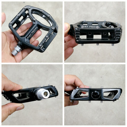 Magnesium Road MTB Mountain XC AM Bike Cycling Pedals flat Bicycle Pedal Black