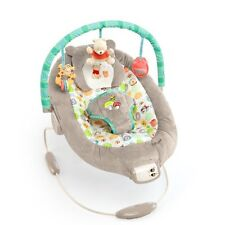 Baby Bouncer Seat For Girl Toddler Rocking Chair Pink Bunny Print Vibrating Toys