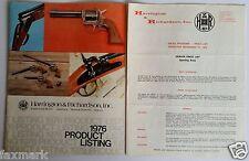 """Harrington & Richardson, Inc."" 1976 Product Listing & Dealer Price List..."
