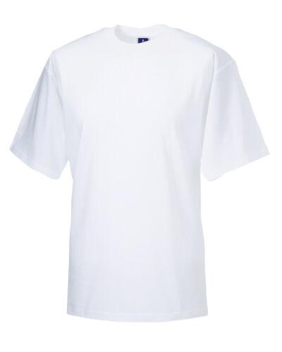Size XL Jerzees ZT160 WHITE Lightweight Short Sleeve T Shirt Crew Neck Cotton