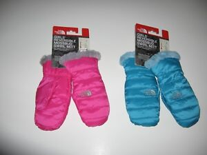 333ba2015 Details about THE NORTH FACE GIRLS REVERSIBLE MOSSBUD SWIRL MITTS YOUTH  GLOVES MITTENS Size L