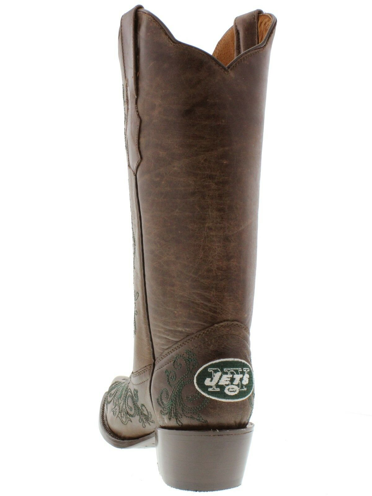 braun New York Jets Rodeo Riding Leather Leather Leather Cowboy Stiefel Western Snip Toe new 1d22d3