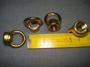 1 anneau rond de suspension raccord femelle en 10 x 1 mm en laiton (réf A)