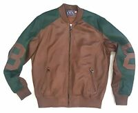 Classic Ckel Original Eight Ball 8ball Leather Jacket 100% Authentic Brown/green
