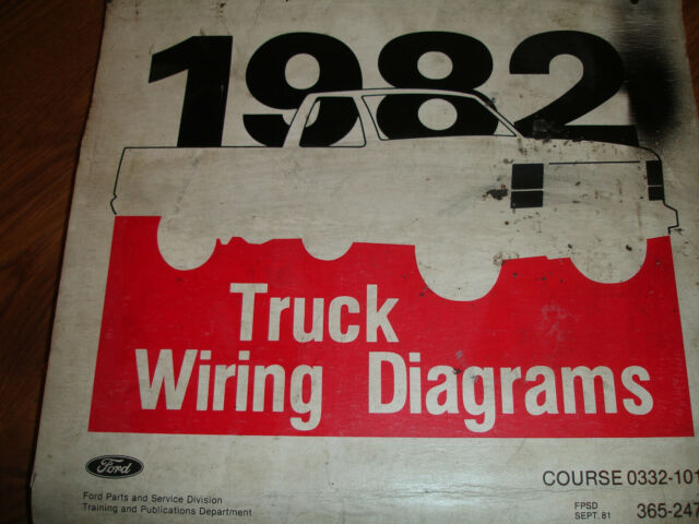 1982 Ford F600 700 F800 CAB Electrical Wiring Diagrams ...