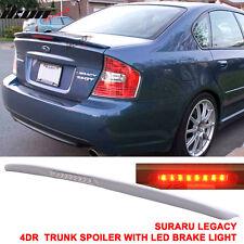 05-09 Fit For Subaru Legacy Sedan 4Dr Trunk Spoiler Wing & LED Brake Light (FRP)